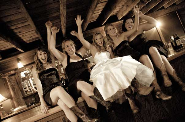 Cowgirl Bridal party